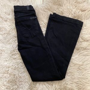 Black Charlize 7 for all mankind jeans